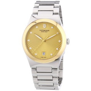 Victorinox Swiss Army Women's 241633 Victoria Gold Dial Stainless Steel Ladies Watch
