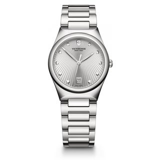 Victorinox Swiss Army Women's 241630 Military Victoria Silver Dial Stainless Steel Watch