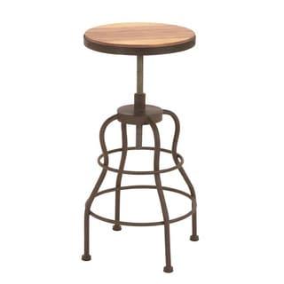 Vintage Inspire Metal Wood Bar Chair