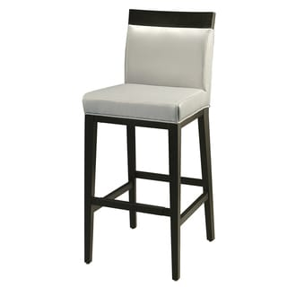 Elloise Ballarat Black and Grey Leather Counter Stool