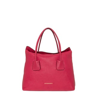 Burberry Medium London Pink Leather Baynard Tote Bag