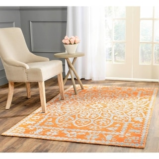 Safavieh Hand-Knotted Stone Wash Copper Wool/ Cotton Rug (4' x 6')