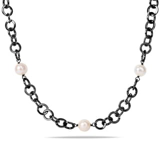 Miadora White Pearl Endless Necklace (10-11 mm)