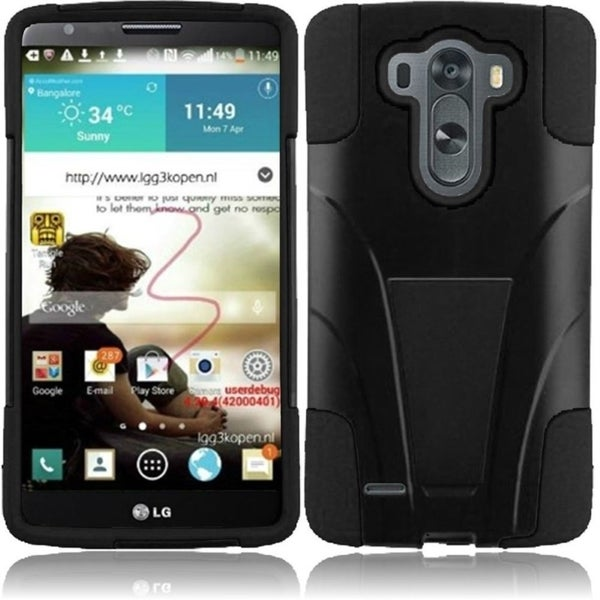INSTEN With Kickstand Rugged Protective Dual Layer Hybrid Cover Phone Case Cover for LG G3