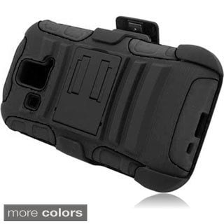 INSTEN Kickstand Holster Rugged Dual Hybrid Phone Case Cover for Kyocera Hydro XTRM C6721