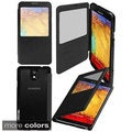 BasAcc Flip Smart View Snap-on Leather Cover TPU Case for Samsung Galaxy Note 3