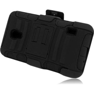 BasAcc Kickstand Holster Rugged Dual Hybrid Case for LG Optimus F6 D500 MS500