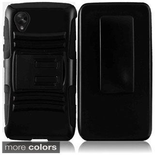 BasAcc With Kickstand Holster Rugged Dual Layer Hybrid Case for Google Nexus 5