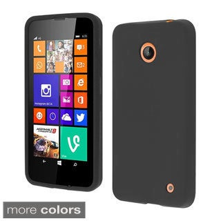 BasAcc Colorful Soft Silicone Rubber Skin Cover Case for Nokia Lumia 635