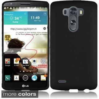 BasAcc Colorful Rubberized Hard Plastic Snap-on Cover Case for LG G3