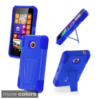 BasAcc With Kickstand Rugged Dual Layer Hybrid Cover Case for Nokia Lumia 635