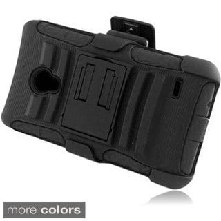 INSTEN With Kickstand Holster Rugged Dual Layer Hybrid Phone Case Cover for LG Lucid 3 VS876