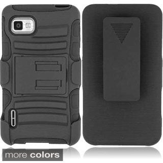 BasAcc Kickstand Holster Rugged Dual Hybrid Case for LG Optimus F3 All Carriers