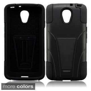 BasAcc With Kickstand Rugged Dual Layer Hybrid Cover Case for LG LS740 Volt F90