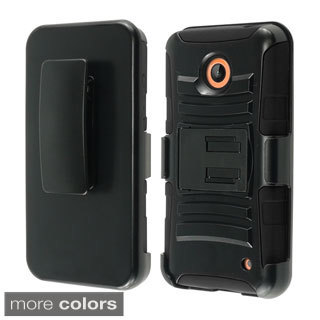 INSTEN With Kickstand Holster Rugged Dual Layer Hybrid Phone Case Cover for Nokia Lumia 635