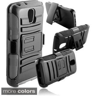 BasAcc With Kickstand Holster Rugged Dual Hybrid Case for LG LS740 Volt F90