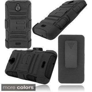 INSTEN Stand Holster Rugged Dual Hybrid Phone Case Cover for Huawei Valiant/ Ascend Plus