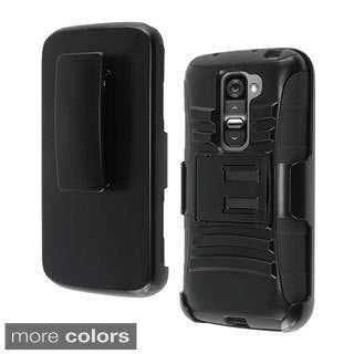 INSTEN With Kickstand Holster Rugged Dual Layer Hybrid Phone Case Cover for LG G2 Mini LS885