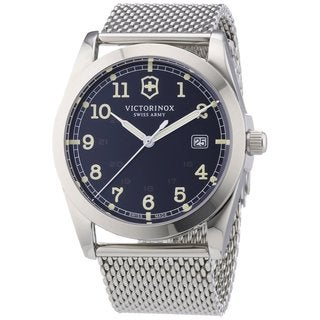 Victorinox Swiss Army Men's 241585 Infantry Black Dial Quartz Watch