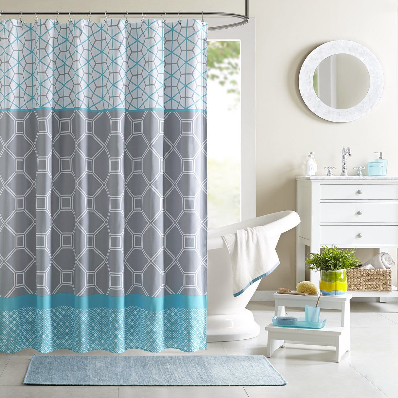 Intelligent design zara shower curtain overstock - Intelligent shower ...