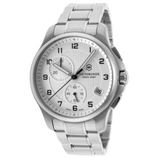 Victorinox Swiss Army Men's 241554.1 Steel Officers Quartz Analog White Dial Watch
