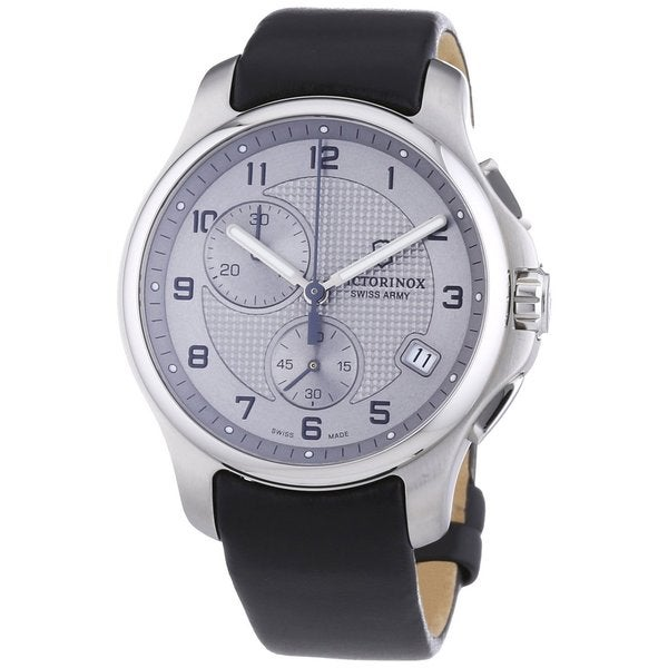 Victorinox Swiss Army Men's 241553.2 Leather Officers Quartz Analog Chronograph Watch