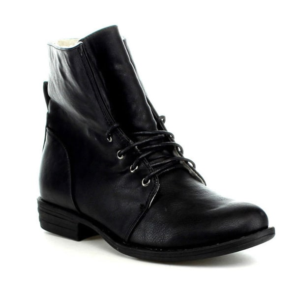 ANNA TORI-18 Women's Warm Winter Lace Up Ankle Boots