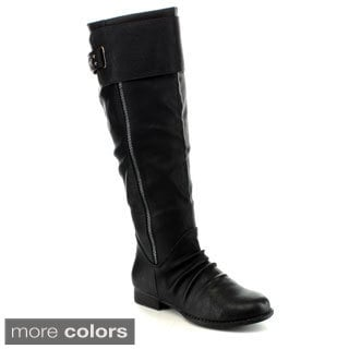 ANNA JUNO-8 Women's Combat Riding Knee High Boots