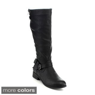 ANNA JUNO-7 Women's Combat Riding Knee High Boots