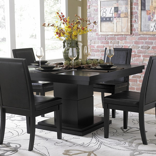60 Inch Square Pedestal Table: TRIBECCA HOME Weston Black Square Pedestal Dining Table