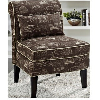 Hailey Brown/ Vanilla Parisian Slipper Chair