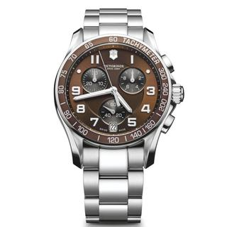 Victorinox Swiss Army Men's 249036 Chronograph Classic Brown Dial Watch