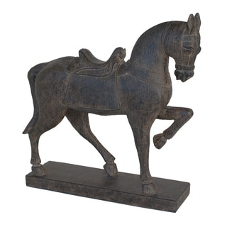 Brown Resin Horse Figurine