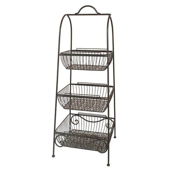 Blue Metal Plant Stand