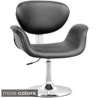 CorLiving Abrosia Chrome Adjustable Curved Chair