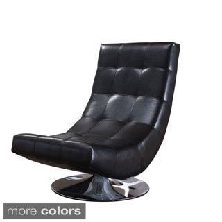 Electra Swivel Faux Leather Accent Chair