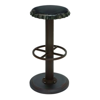 Unique Black Bar Stool with Soda Cap Seat