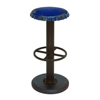Unique Blue Bar Stool with Soda Cap Seat