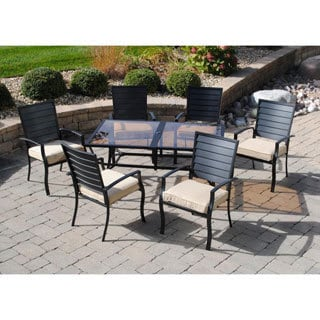 Sun Casual 7-piece Paneled Back Dining Set