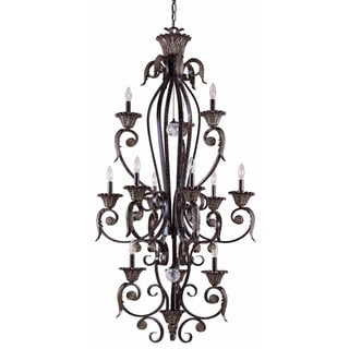 Triarch International Stephano 12-light Entry Chandelier in English Bronze