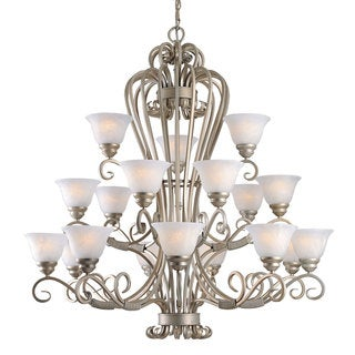 Triarch International Monte Carlo 18-light 3-tier Chandelier in a Crystal Mist Finish