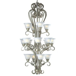 Triarch International Monte Carlo 16-light Entryway Chandelier in a Crystal Mist Finish