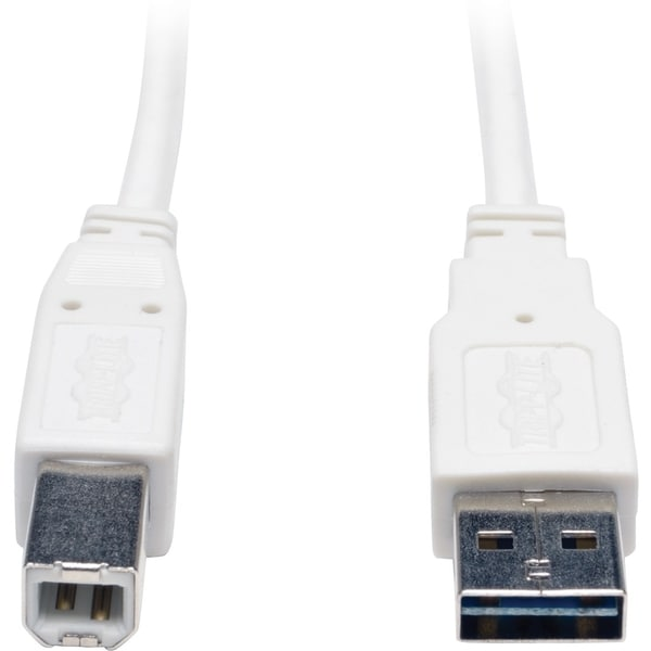 Tripp Lite 6ft USB 2.0 High Speed Cable Reverisble A to B M/M White