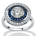 Lillith Star Platinum over Silver 3 1/4ct TGW Cubic Zirconia Ring