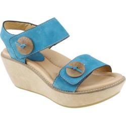 Women's Earth Fauna Royal Blue Nubuck Leather