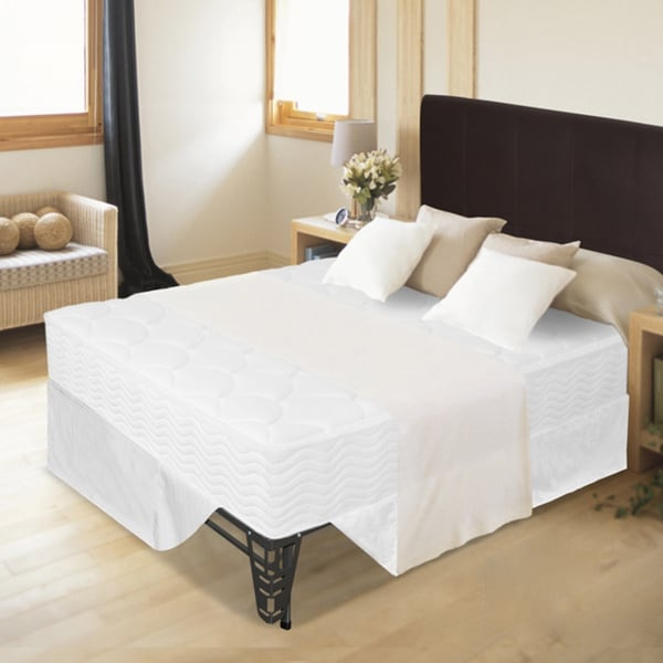 Priage 8-inch Tight Top Queen-size iCoil Spring Mattress and Steel Foundation Set