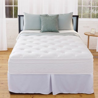 Priage 12-inch Euro Box Top King-size iCoil Spring Mattress and Steel Foundation Set