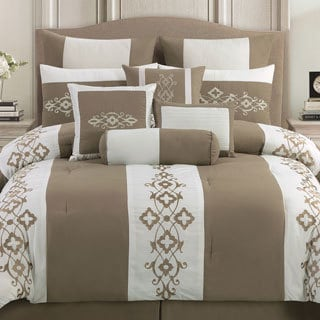 Viola 10-piece Embroidered Comforter Set