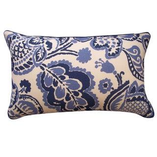 Blueberry Blue Outdoor Throw Pillow