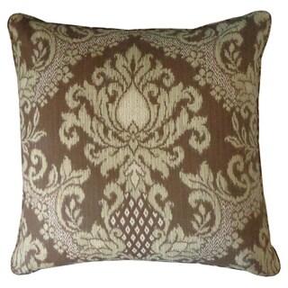 Ikat Brown Outdoor Throw Pillow